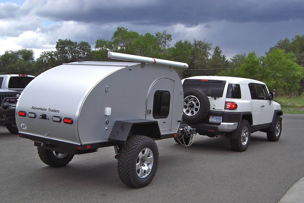 The AT off road teardrop camper trailer offers many options.